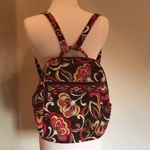 VERA BRADLEY PUCCINI BACKPACK SCHOOL TOTE TRAVEL